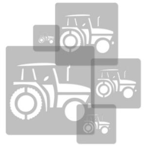 5x Reusable Plastic Stencils 34x34cm To 9x9cm Nursery Kids Template Tractor Relieving Rheumatism And Cold
