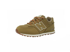 New-Balance-Shoes-Junior-Youth-Boys-Girls-KL574-Tan-Running-Sneakers