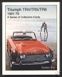 Collectors Card Set TR4A TR250 advert TRIUMPH TR4 TR5 TR6 Sports Car 1961-76