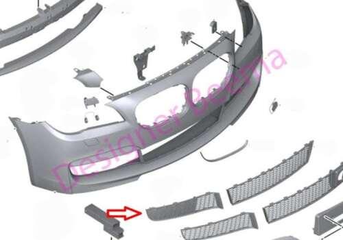 JS BMW 7/' serie F01 F02 F03 F04 M SPORT PARACHOQUES DELANTERO REJILLA parcialmente cerrado