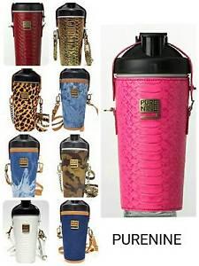 PURE NINE BOTTLE PORTABLE ALKALINE WATER Ml Leather Case - Alkaline water bottle