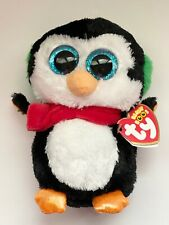 """6/"""" Ty Beanie Boo North the  Christmas Penguin ***RETIRED***"""