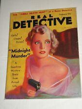 Vintage REAL DETECTIVE Volume XXIV #3 January 1932 GUN MOLL/CLEAVAGE