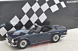 NEW-1-18-MINICHAMPS-155132032-Triumph-tr6-DARK-BLUE-1973-Limited-350pcs