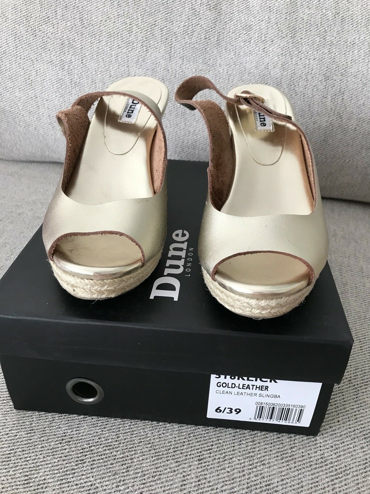 Men's/Women's Dune 39 gold Wedge Sandals Size 39 Dune Reputation first Skilled manufacturing Rich on-time delivery f91c55