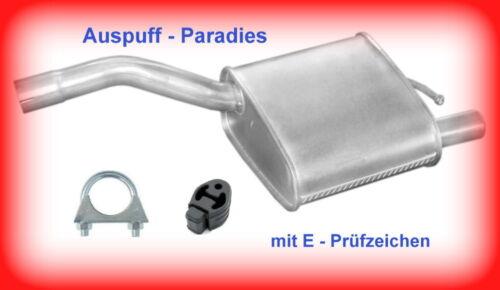 +Kit Endschalldämpfer Endtopf Auspuff Ford Focus I 1.8 16V Fließheck DAW//DBW
