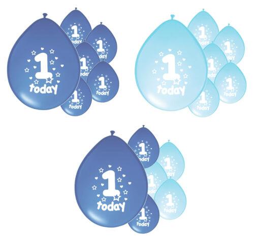 PA 10 x 1ST BIRTHDAY BOY// AGE 1 BOY BLUE AND BABY BLUE BIRTHDAY BALLOONS
