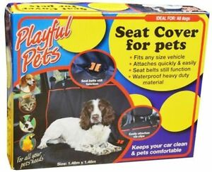 Image Is Loading PLAYFUL PETS DOG REAR BLACK CAR SEAT COVER