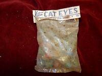 30 Vintage Cats Eye Marbles Hybrid Vitro Agate Multicolor Old Stock In Bag