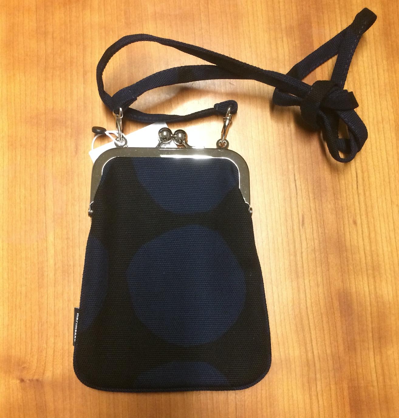Marimekko Rimmi bourse sac, de la Finlande Neuf avec étiquettes, bleu pienet kivet