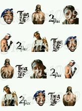 Tupac Nail decals (water decals) 2pac nail art!