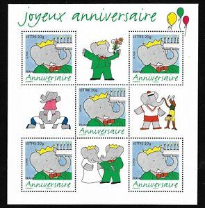 Bloc-Feuillet-2006-N-100-Timbres-France-Neufs-75-ans-de-Babar