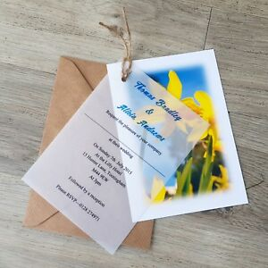 Personalised-Welsh-Daffodil-Vellum-Wedding-Invitations-with-Envelopes-and-twine