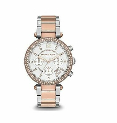 734d3dcccdf7 Michael Kors Ladies Two-tone Rose Gold Chronograph Date Watch MK5820 ...
