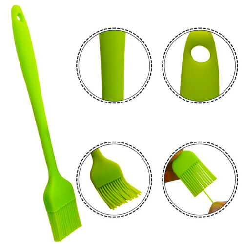 """2//5PCS SET 8/"""" Silicone Basting Pastry Barbecue oil Brush for BBQ Kitchen"""