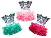 New 2016 Girl Dresses hello kitty Princess Dresses baby tutu dress Free Shipping
