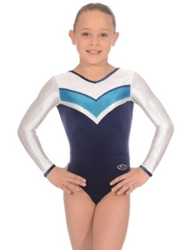 La zona da ginnastica Leotard armonia LONG SLEEVED z357 z3358 senza maniche collo V