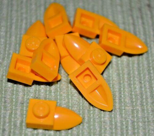 10 ~ Yellow Orange 1x2 Teeth Tooth Bricks  ~ Lego  ~ NEW ~ Castle