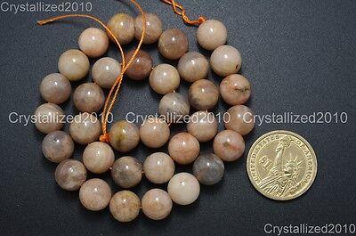 Natural Sunstone Gemstone Round Loose Beads  6mm 8mm 10mm 12mm 14mm 16mm 15.5''