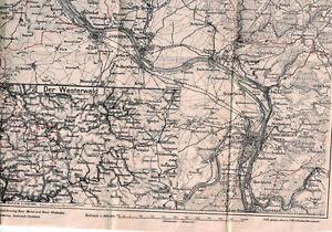 Westerwald Karte.Details Zu Historische Karte Westerwald Und Mittelrhein Ca 1910