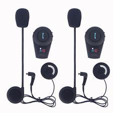 2x 500m FDC BT Bluetooth Intercom Motorcycle Helmet Communication Headset+FM