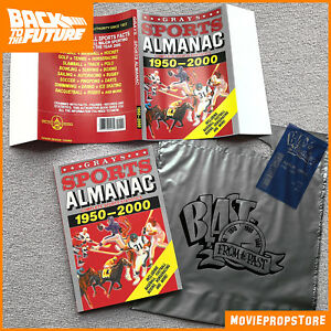 BACK-TO-THE-FUTURE-Grays-SPORTS-ALMANAC-Movie-Prop-bill-amp-bag