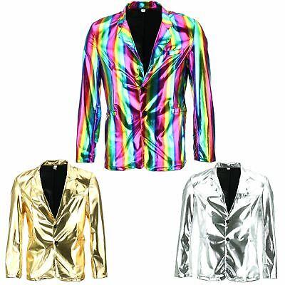 Besorgt Shiny Metallic Blazer Firefly Waistcoat Party Dressing Up