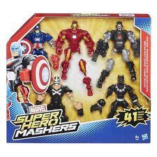 Hasbro MARVEL Super Hero Mashers 5 pack Captain America, Black Panther, Iron Man