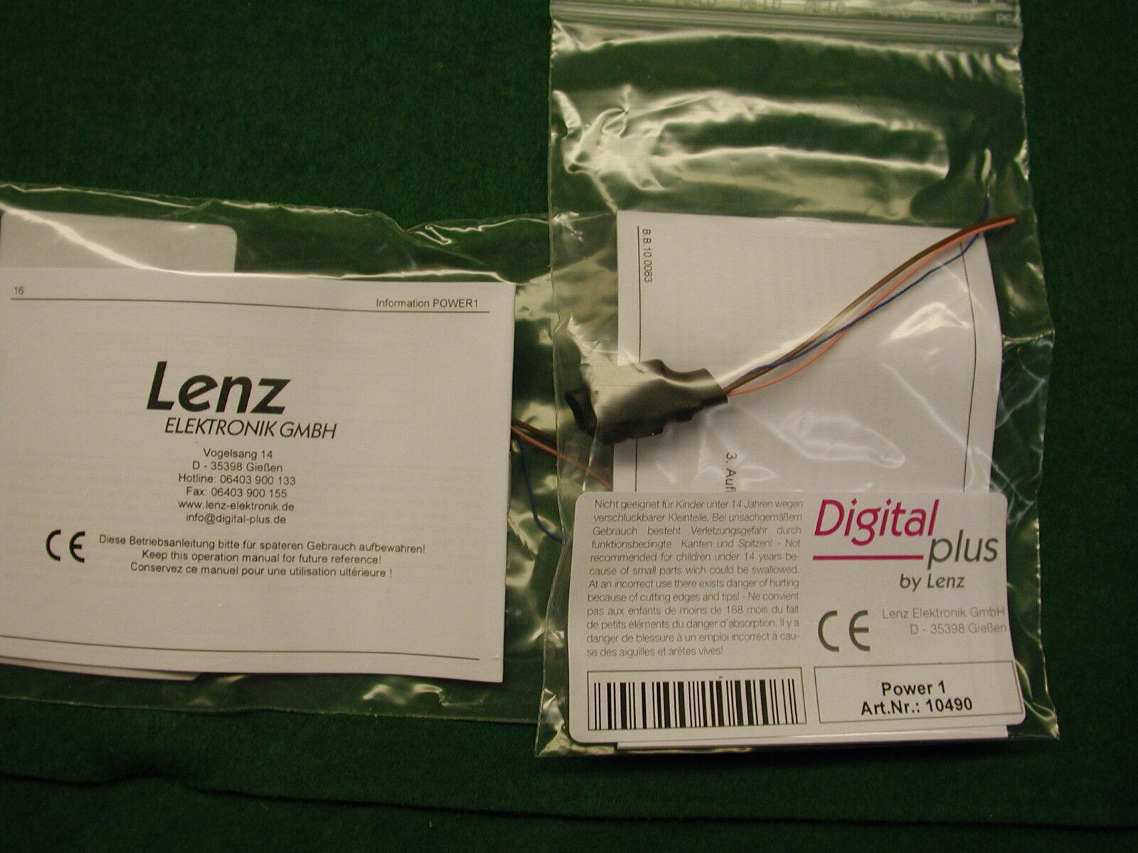 Lenz DCC Art. Nr. 10490 Módulo de USP Power 1 para los decodificadores oro Nuevo en paquete Mfg.