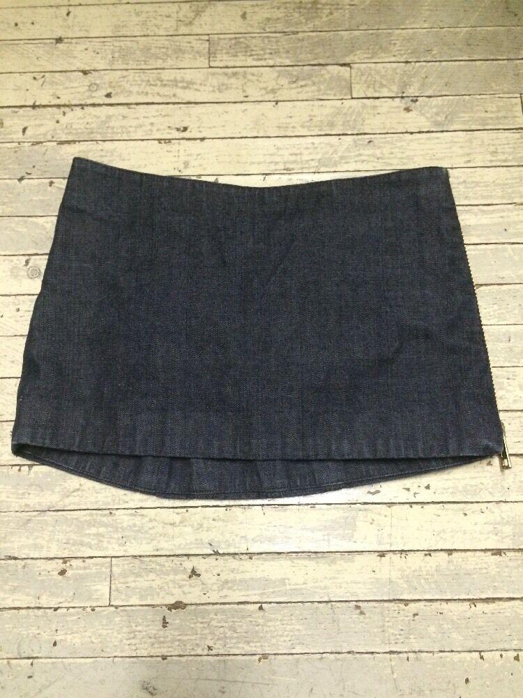 90s Daryl K Daryl K-189 Denim Mini Skirt with Side Zipper XS Made in USA
