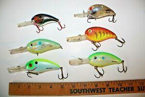 6-ct-USED-Bill-Dance-Fat-Free-Shad-Deep-Crankbait-Fishing-Lures-CB22