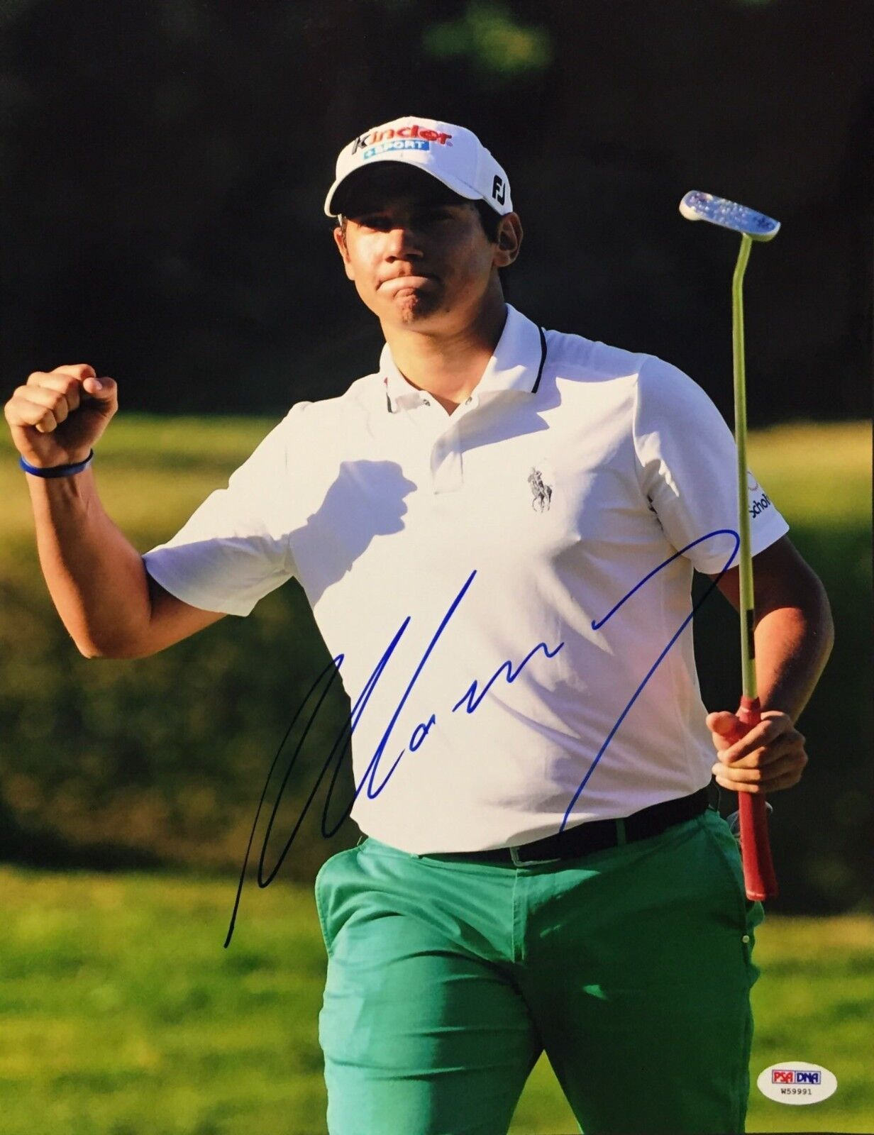 Matteo Manassero Signed 11x14 Photo *Golf PSA W59991