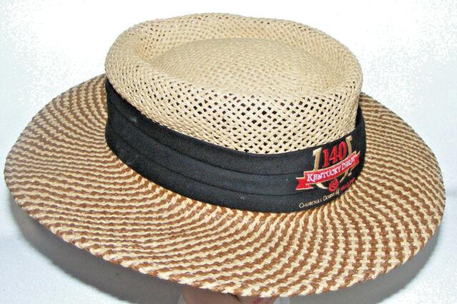 Kentucky Derby Hat Walter Hagen Golf Paper Straw Woven Brimmed Sun ... 013adf76f9b