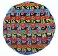 Lord R Colton Masterworks Pocket Round Portofino Black Teal Silk $75 Retail on Sale