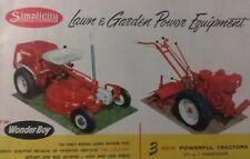 Simplicity 1957 Vb Fc A Wonder Boy Garden Tractor Color Sales Brochure Catalog