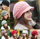 Fashion Womens Winter Warm Thick Knitted Crochet Slouch Baggy Beanie Hat Cap Lot