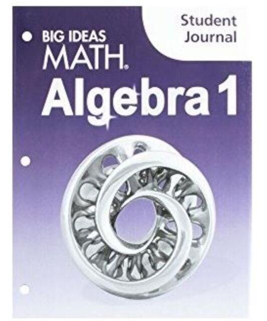 Big Ideas Math Algebra 1 Texas Edition Student Journal by Larson Boswell -