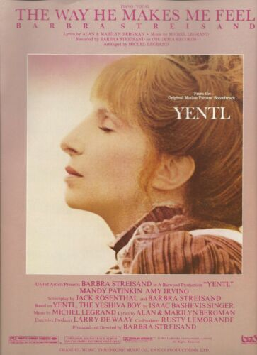 Barbra Streisand The Way He Makes Me Feel from the movie Yentl US Sheet Music