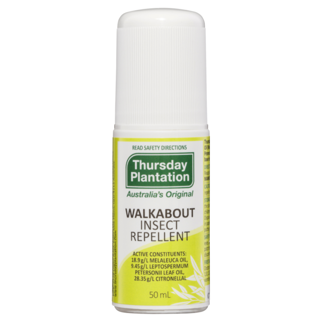 Thursday Plantation Walkabout Insect Repellent 50mL Roll-On Soothing Protection