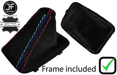 RED STITCH MANUAL SUEDE SHIFT /& E BRAKE+PLASTIC FRAME FOR BMW E90 E91 E92 E93