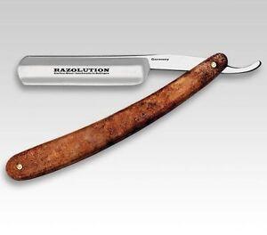 Kreativ Razolution Solingen Rasiermesser 5/8 Carbonstahl Bernstein Look Made In Germany Beauty & Gesundheit