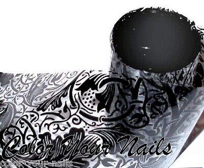 15 cm Transferfolie Black Lace,(transparent)auch für Stamping. Nagelfolie