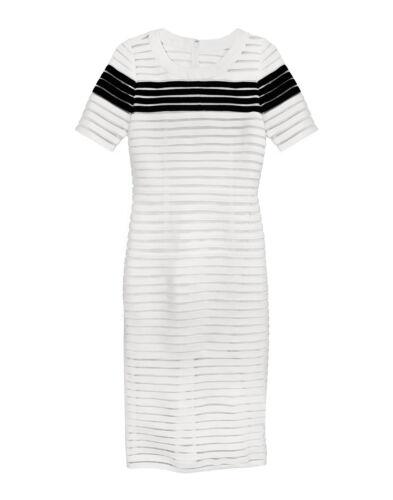 Cynthia Rowley Crepe Ribbon Slim Dress