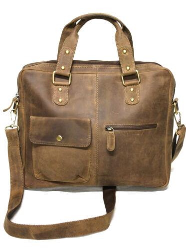 *NEU Rindsleder echt Leder Damen Aktentasche Tasche vintage  antik  Braun