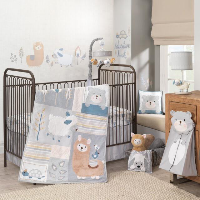 Lambs Ivy Hi By Dena Little Llama 5 Pc Baby Nursery Crib Bedding Set W Per