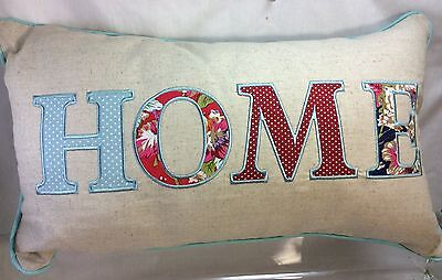 HOME Pattern Decorative Pillow 12x 20 in,