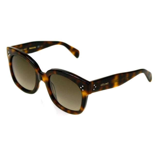 6398ea55515 Celine 41805/s 05lha Tortoise Audrey Cats Eyes Sunglasses Lens Category 3 S
