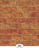 Dollhouse Weathered Brick Red Wallpaper