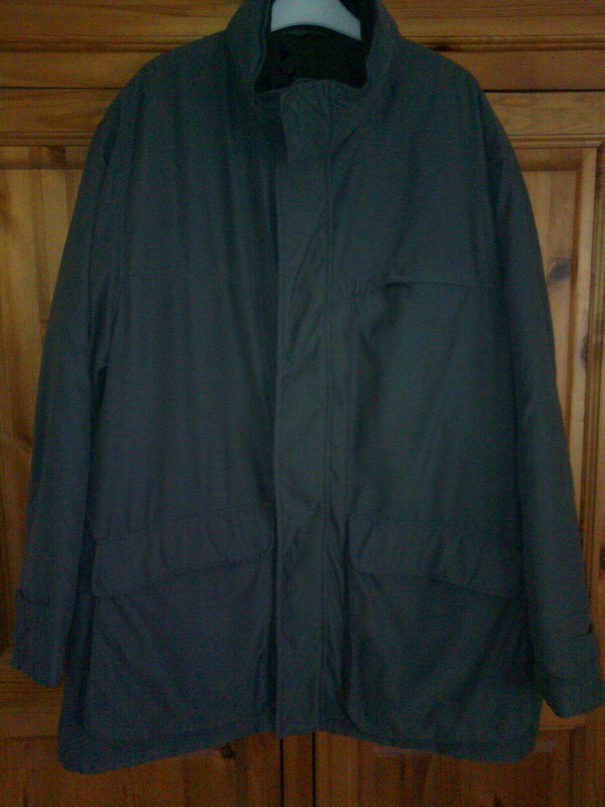 GENTS MARKS & SPENCER CLASSIC GREY COAT CONCEALED HOOD, SIZE XXL, BNWOT