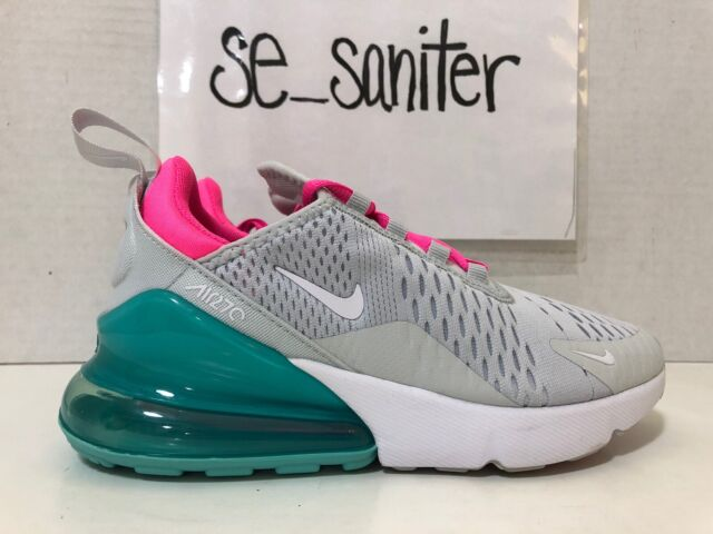 Nike Women S Air Max 270 Pure Platinum White Pink Blast Ah6789 065 Size 9 For Sale Online Ebay